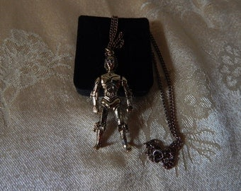 Star Wars 1977 C3PO Necklace Vintage