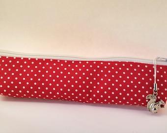 Little Red Riding Hood Pencil Case Polka dot
