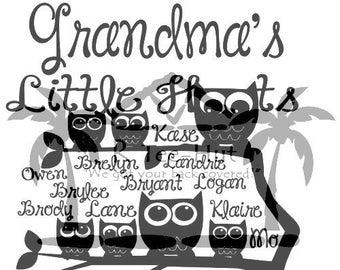 Grandma's Little Hoots SVG