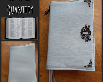 Custom Revised NWT Small Pocket Bible Cover in Tinted Gray