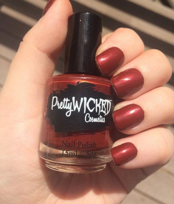 Dark Red Nail Polish: Blood Red Nail Polish