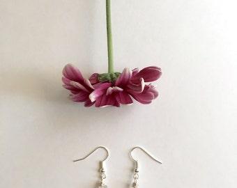 Raw quartz crystal dangle earrings, quartz earrings, crystal earrings, dangle earrings, spiritual jewelry, healing jewlery, crystal jewelry