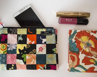 Zipper pouch patchwork style