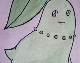 Chikorita Watercolor