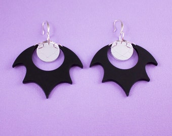 Mystic Star Black and Silver Earrings