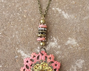 Pink Tin Necklace