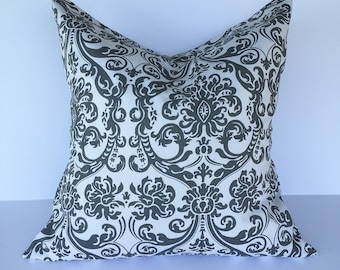 Throw pillow accent pillow cover decorative throw pillow cover gray and white accent pillow cover home decor couch pillow cover