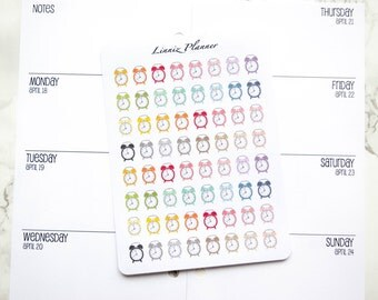 Mini Clock (matte planner stickers, perfect for planners)