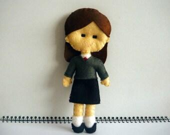 Harry Potter Hermione Granger Inspired Felt Doll