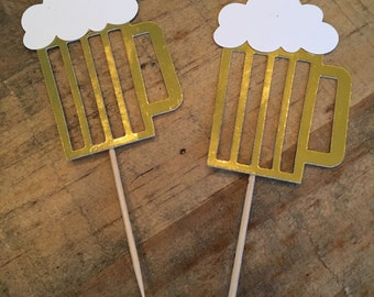 beer cupcake toppers