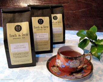 6 Organic Teas - SAMPLER PACK of Premium Loose Leaf Teas