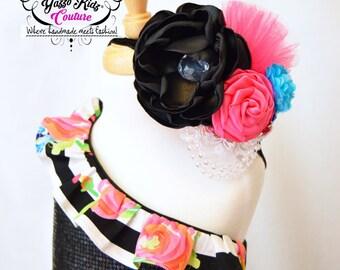 YKC headband, Couture Headband, Rose Headband