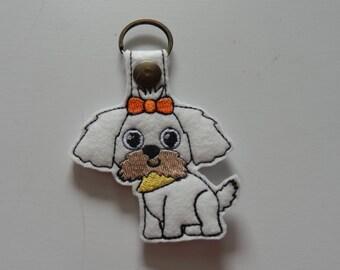 Shih Tzu (Embroidery/Felt/Keychain)