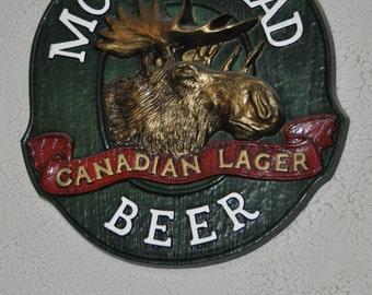Vintage Moosehead Beer Canadian Lager Sign