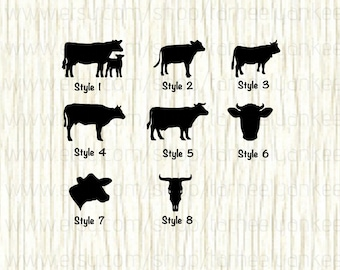 Cow Decal, Calf Decal, Bull Decal, Holstein Decal, Livestock Decal, Skull Decal, Farmer Decal,Dairy Farmer Decal,Car Decal,Show Animal Decal