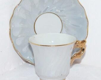 Antique Child's Teacup & Saucer JAPAN Lusterwear - 404