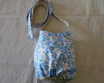 Liberty of London girls shoulder bag (blue flower)
