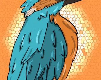 European Kingfisher Print