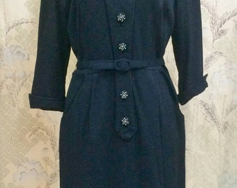 Vintage 1940s Beautiful Black Dress from Young Viewpoint