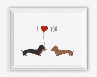 dachshund art | etsy