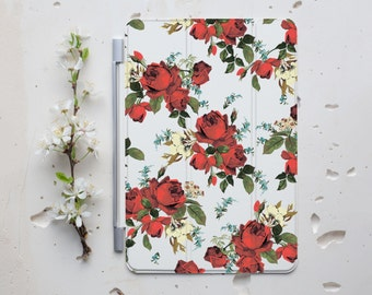 iPad Case Floral Smart Cover iPad Smart Cover iPad 2 Smart Cover iPad 3 Smart Cover iPad 4 Case Smart Cover iPad Case Rose iPad Cover s009