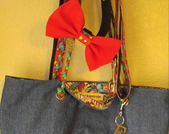 Dog Walking Set/Leash/Collar/Tote/Bow Tie or Flower