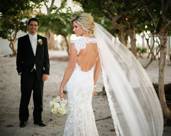 Alencon Lace Wedding Veil