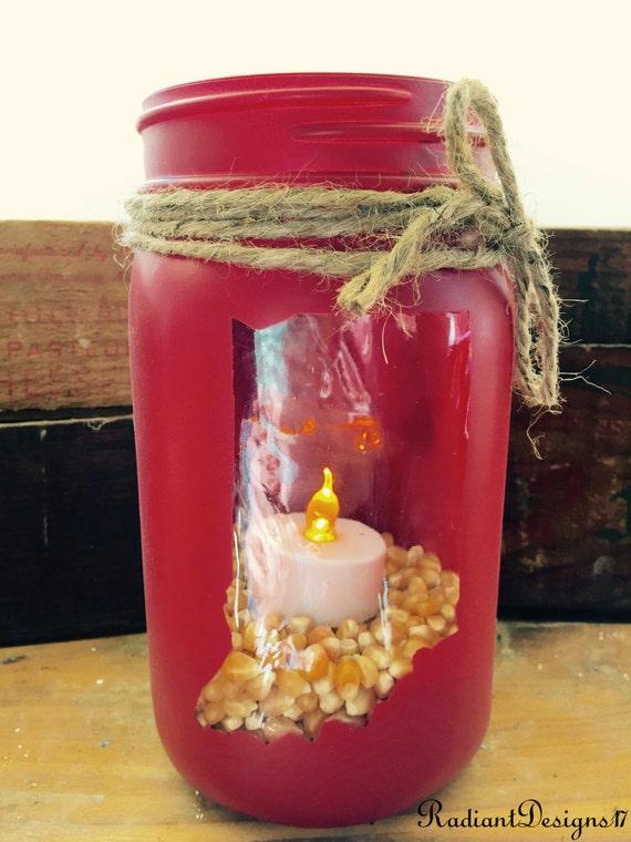 indiana state mason jar candle votive indiana by