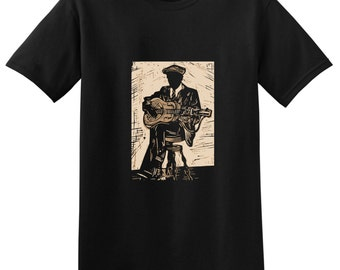 BLIND BOY FULLER Blues Guitar T-shirts - Bluesman tees - Small, Medium, Large, Extra Large, 2XL, 3XL, 4XL, 5XL