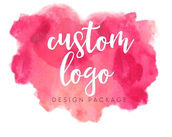 Custom Logo Design - Custom Logo Design Branding - Custom Branding Package - Logo Design - Branding Package - Watercolor Logo