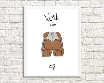 Funny Motivational Print - Dorm Motivation - Gift for Boyfriend - Teenage Boy Gift - College Student Gift - College Dorm Decor - Dorm Print