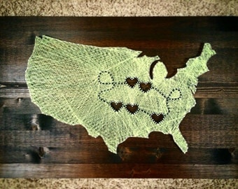 MADE TO ORDER: String Art United States of America Together Forever Sign