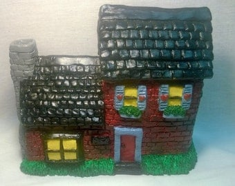 """Handpainted """"Red Cottage House"""""""