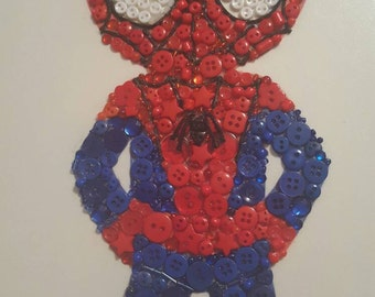 Spiderman Wall decor button art