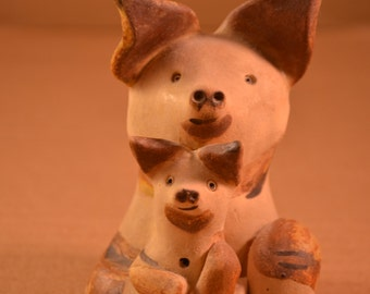 French Pigs Clay Sculpture Ceramic By Jean Canteins from Saint-Paul-De-Vence