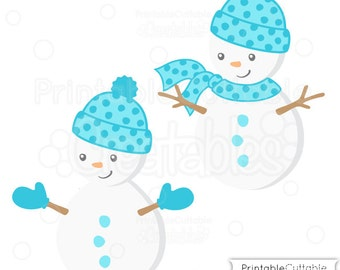Cute Boy Snowman SVG Cut File & Clipart - Includes Limited Commercial Use!