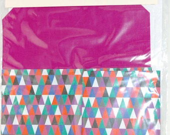 Make your own Notebook Kit bookbinding craft pink