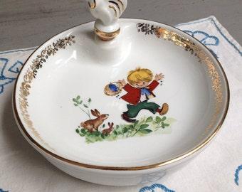 Porridge in Limoges porcelain plate