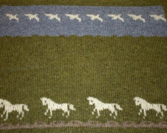 Of Birds and Horses Baby's Blanket