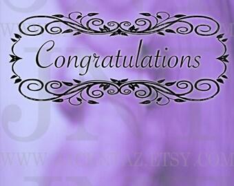 Congratulations *Printable Greeting Card* 8.50 X 11