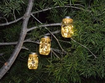 Set of (2) Rustic Ball Mason Jar Lanterns