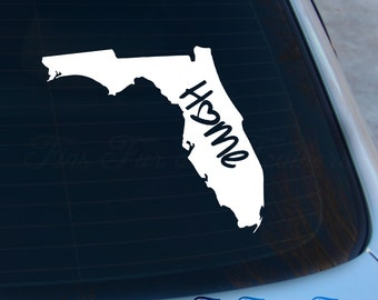 Florida Decal - State Decal - Home Decal - FL Sticker - Love - Laptop - Macbook - Car Decal