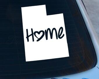 Utah Decal - State Decal - Home Decal - UT Sticker - Love - Laptop - Macbook - Car Decal