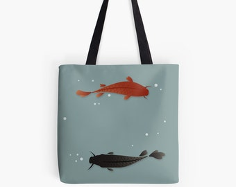 Koi tote bag etsy for Koi fish purse