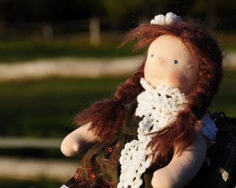 Waldorf doll Brunette 11 inch hand made to be the perfect gift she is Sue