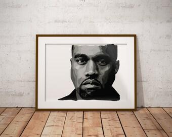 Kanye Digital Print A3 - A1
