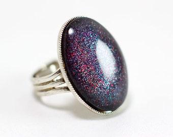 Ring Galaxy grey / red / silver