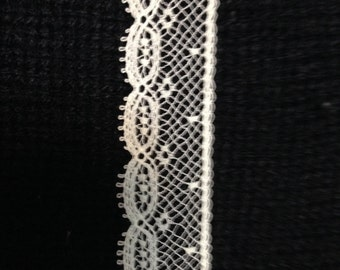"""French Val Lace Edging Capital Imports #21138 ECRU 3/4"""" wide--Priced by the yard--doll clothes, Heirloom sewing, baby"""