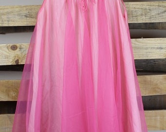 Pink Chiffon Vintage Evening Gown