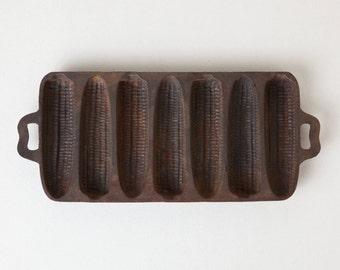Vintage Cast Iron BSR Cornbread Corn Stick Pan - 7 Corn Cobs